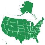 USA map — Stock Vector #38310655
