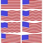 USA flag set — Stock Vector