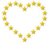 Starry heart — Stock Vector