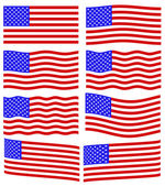 USA flag set — Stock Vector