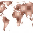 Stock Vector: Checkered world map