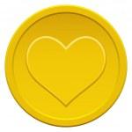 Heart coin — Stock Vector