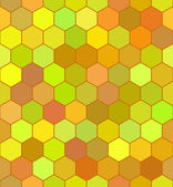 Honeycomb color pattern — Stock Vector