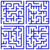 Maze set — Stock Vector