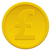 Pound sterling coin — Stock Vector