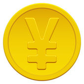 Gold yen — Stock Vector