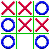 Noughts and Crosses — Stock Vector
