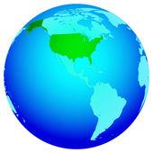 USA on globe — Stock Vector