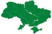 Silhouette map of Ukraine — Vector de stock