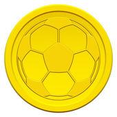 Ball on coin — Stock Vector