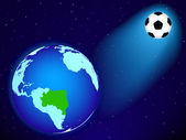 Earth and ball — Vecteur