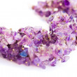 Amethyst necklace — Stock Photo