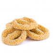 Rusks with sesame seeds — Stock Photo