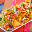 Stock Photo: Nachos and vegetables