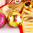 Christmas balls and decorations — Stock Photo