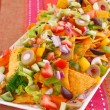 Nachos and vegetables — Stock Photo #34806685