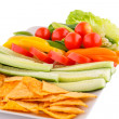 Nachos and vegetables — Foto de Stock