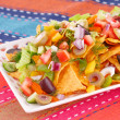Nachos and vegetables — Stock Photo #35344099