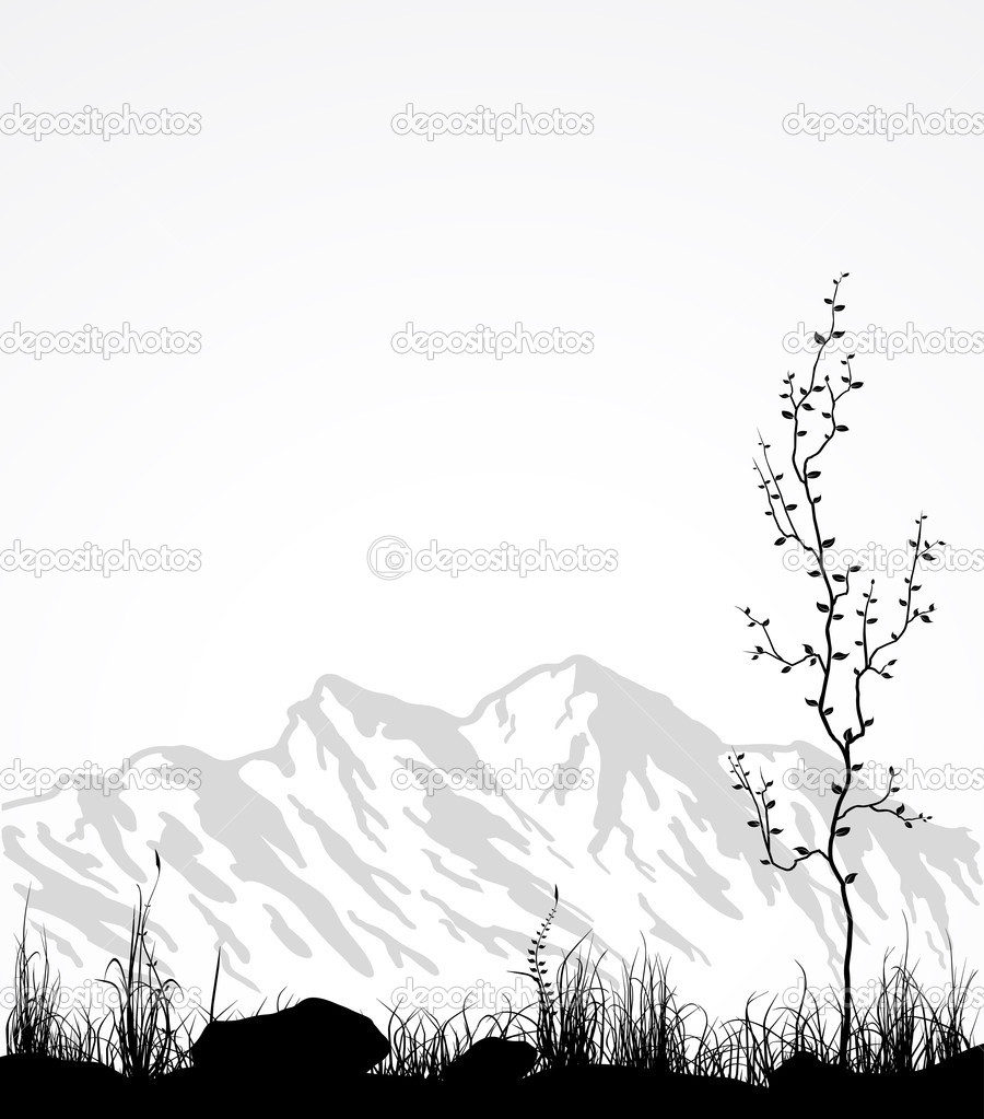 Related  Mountain Range Vector   Mountain Range Outline DrawingMountain Landscape Outline