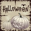 Royalty-Free Stock Vector Image: Halloween card wtih pumpkin over old paper