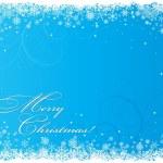 fondo azul Navidad con copos de nieve — Vector de stock