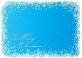 Blue Christmas background with snowflakes. — Stock Vector