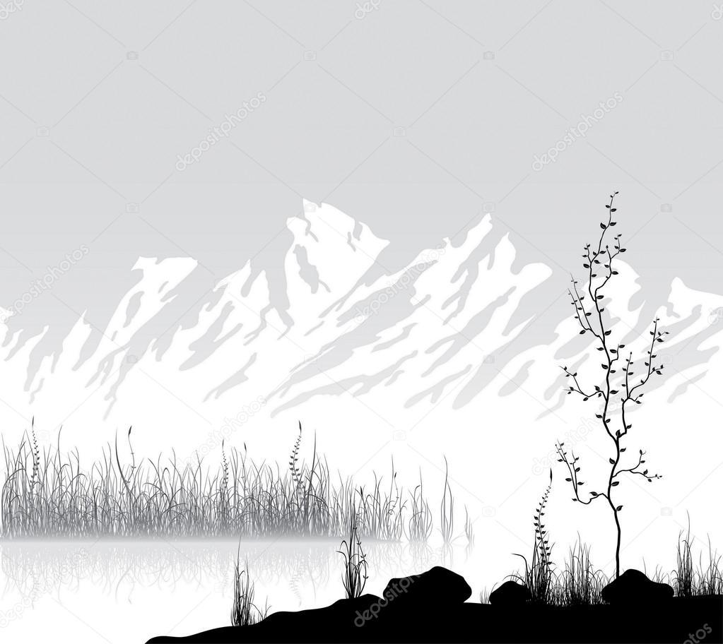 Related  Mountain Range Vector   Mountain Range Outline DrawingMountain Landscape Outline