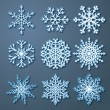 Vector de stock : Set of paper snowflakes