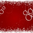 Red Christmas background with snowflakes. — Stock Vector #39398337