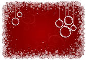 Red Christmas background with snowflakes. — Vecteur