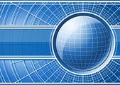 グローブと青色の背景 — ストックベクタ