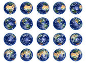 Earth Globes collection — Stock Photo