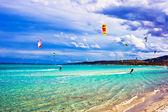 Kitesurfing in Italy — Stock Photo