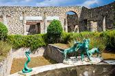 Estátuas de pompeia — Fotografia Stock