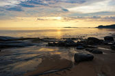 Zee zonsondergang — Stockfoto