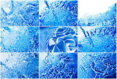 Blue water — Stock Photo