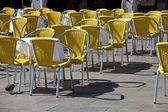 Café tabellen in Venetië — Stockfoto