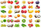 Frutas verduras e legumes — Fotografia Stock