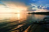 Morze zachód słońca — Zdjęcie stockowe