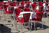 Cafe tables in Venice — Stock Photo