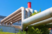 Heavy industrial tubes — Stock Photo
