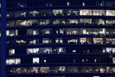 Skyscrapers at night — Stockfoto
