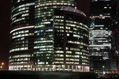Grattacieli di notte — Foto Stock