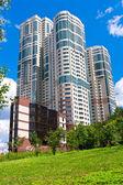 Modern apartment buildings — Stock Photo