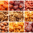 Dried fruits and nuts — Stock Photo