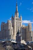 Soviet skyscraper — Stock Photo