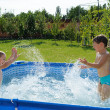 Two boys splashing — Stock Photo #12255783