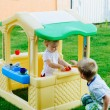 Playing in tiy house — Stock Photo #12546601