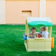 Playing in tiy house — Stock Photo