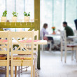 Couple dating in cafe — Stockfoto